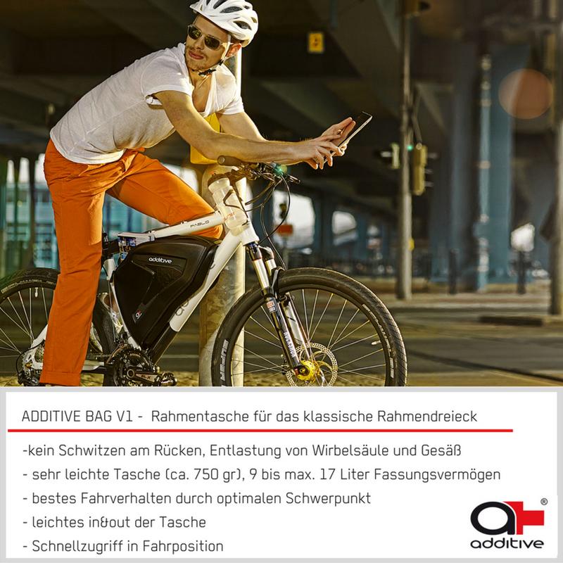 die ADDITIVE BAG V1 - Fahrradtasche für klassische Rahmen - ideal ...