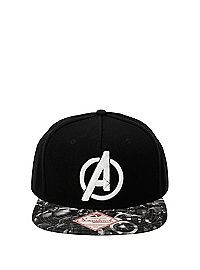 6890d48e577f5 HOTTOPIC.COM - Marvel Avengers Black   White Snapback Hat