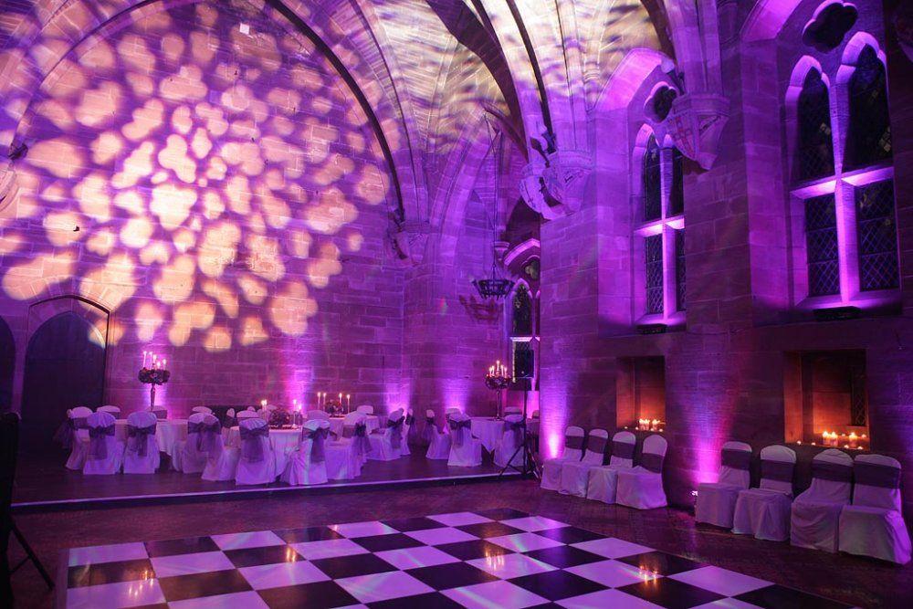 Wedding Lighting At Peckforton Castle
