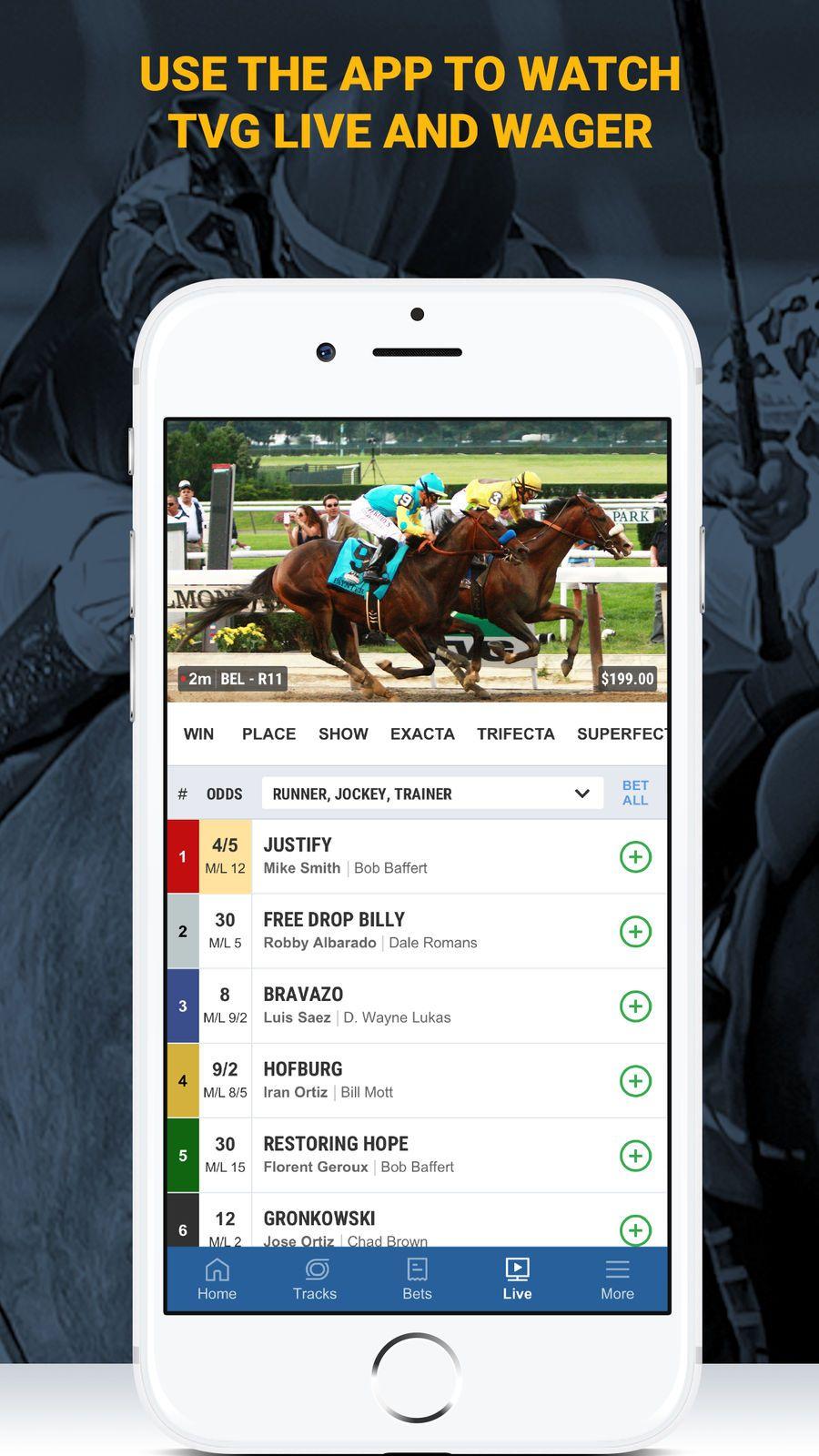 TVG Horse Racing Betting App GamesSportsappsios