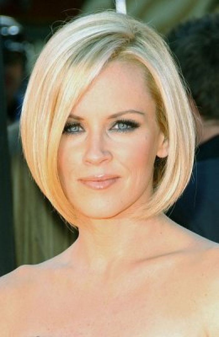 Heart Shaped Faces Hairstyles Thick Hair Styles Angled Bob