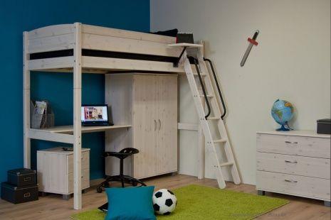 Hoogslaper met bureau en kast kamer thorsten kids