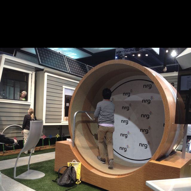 A Human Sized Hamster Wheel To Generate Electricity