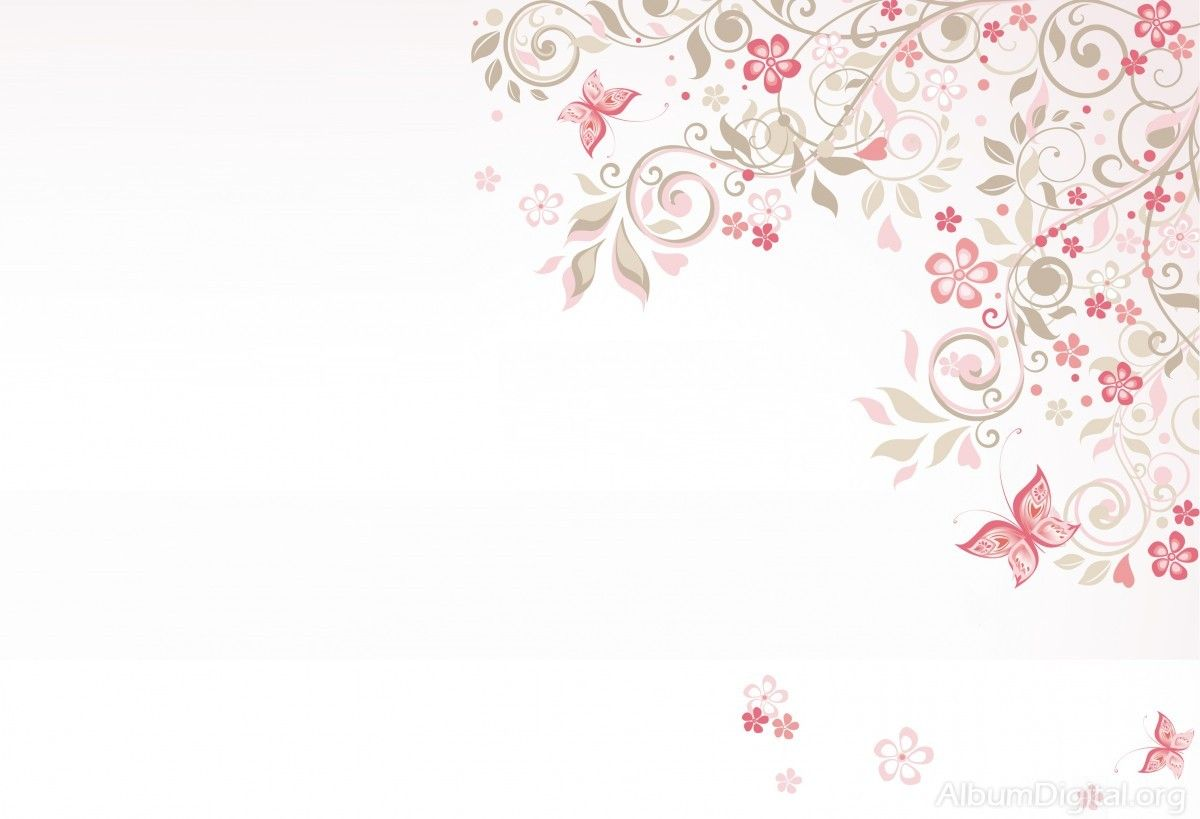 Fondo Primavera álbum Classic Flor Y Estrellas: Fondo Comunión Para álbum Classic Flores Y Mariposas