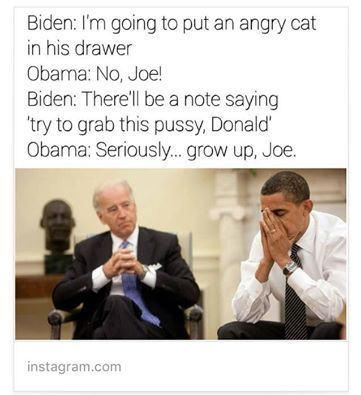 Pin By Sheena Chege On Makes My Day Obama Biden Funny Funny Pictures
