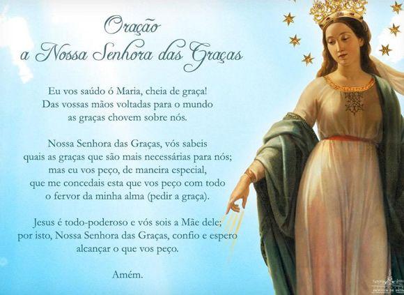 Dia De Nossa Senhora Das Graças Religiosidade Orar Frases E