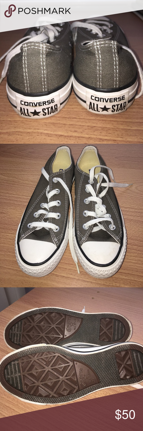 aae815b0f1a Gray women s converse size 5.5 worn 1x like new Gray women s converse size  5.5 worn 1x like new Converse Shoes Sneakers