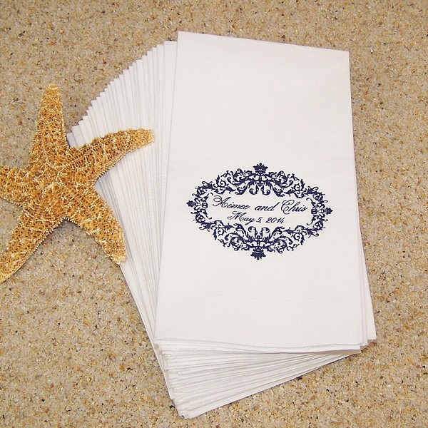 Personalized Paper Guest Towels Submit Your Own Art Logo Paper