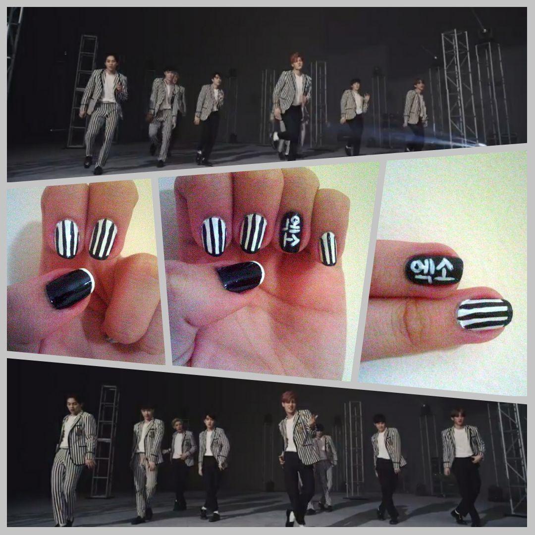 Just love me right Just love me right Just love me right I just wanna make you love me ♪♬~ • • • My work: EXO's Love Me Right MV outfit inspired nail art #EXO #엑소 #EXOK #엑소케이 #EXOM #엑소엠 #EXOL #LoveMeRight #kpop #nails #nailart