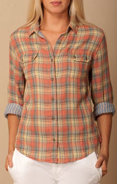 Jach's Girlfriend Plaid Button up - available at Frinje