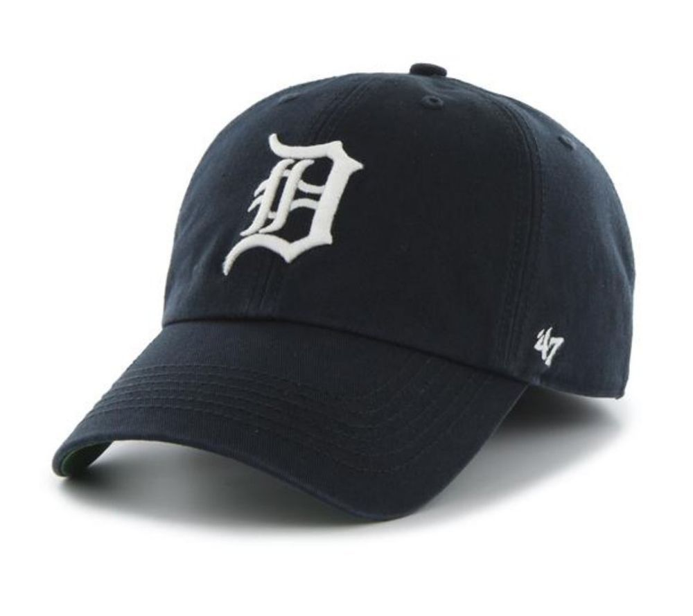Detroit tigers 47 brand navy the franchise fitted hat cap