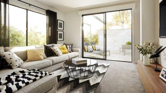 Casa de un piso moderna con hermosa fachada y diseño de interiores - decoracion de interiores salas