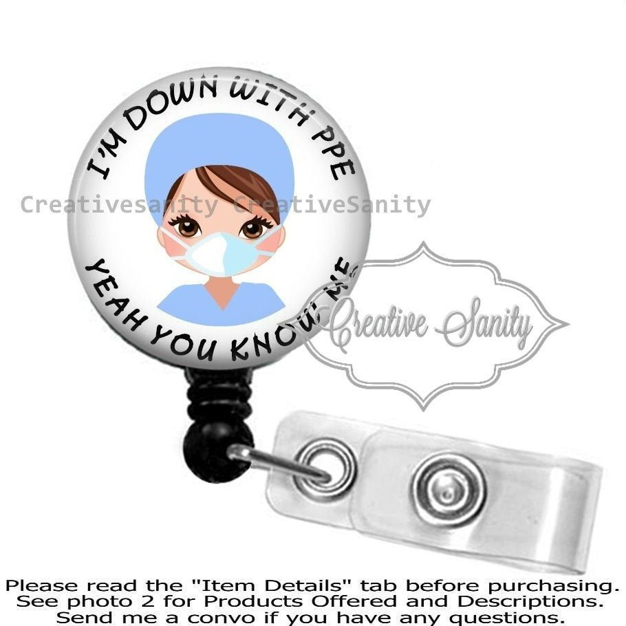 Chaos Coordinator Retractable ID Badge Reel Nylon Cord Badge Holder ID Badge Pull Medical MD RN Nurse Badge ID Charge Nurse Swivel Alligator Clip 34in