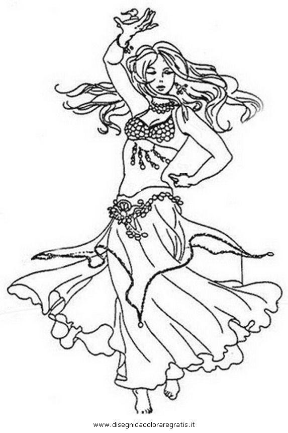 Belly Dancers Coloring Pages Disegni Da Colorare Che Potrebbero