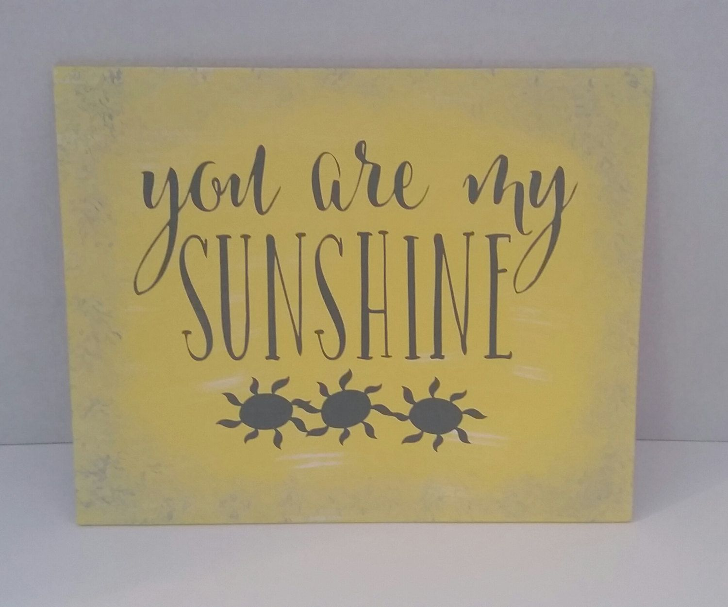 Nursery Decor, You Are My Sunshine, Baby Decor, Yellow and Gray ...