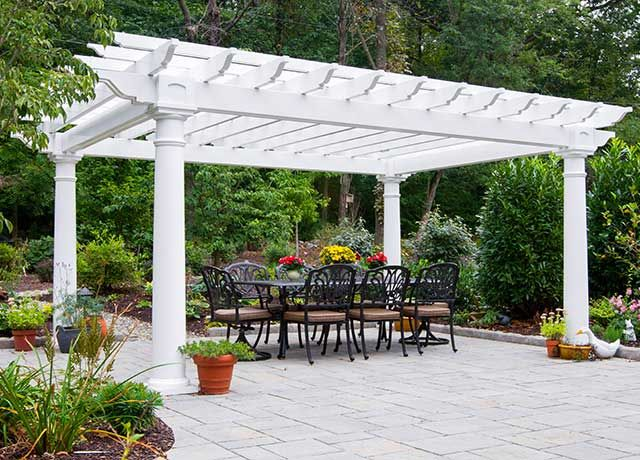 Pergolas Wood And Vinyl Pergolas Amish Country Gazebos Vinyl Pergola Outdoor Pergola Backyard Pergola
