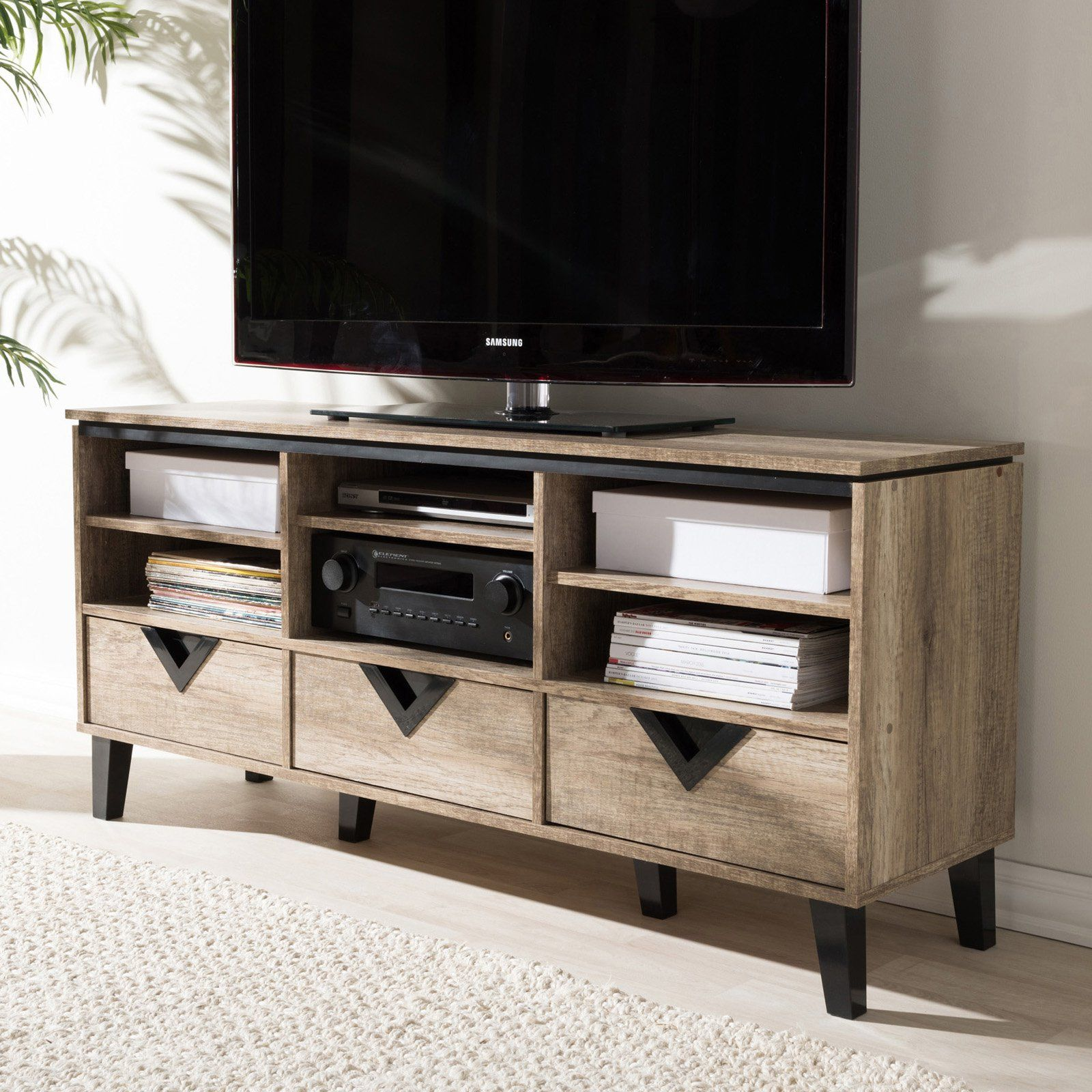 Baxton Studio Wales Tv Stand Contemporary Tv Stands Home Decor