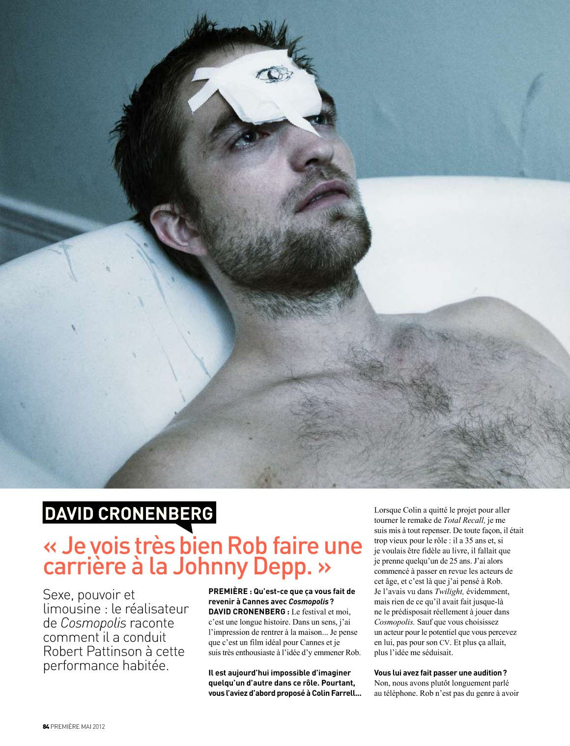 From Premiere May 2012, a photo shoot in homage of Cronenberg