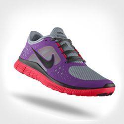 Sleek Women's Nike Free Black Violet Shoes