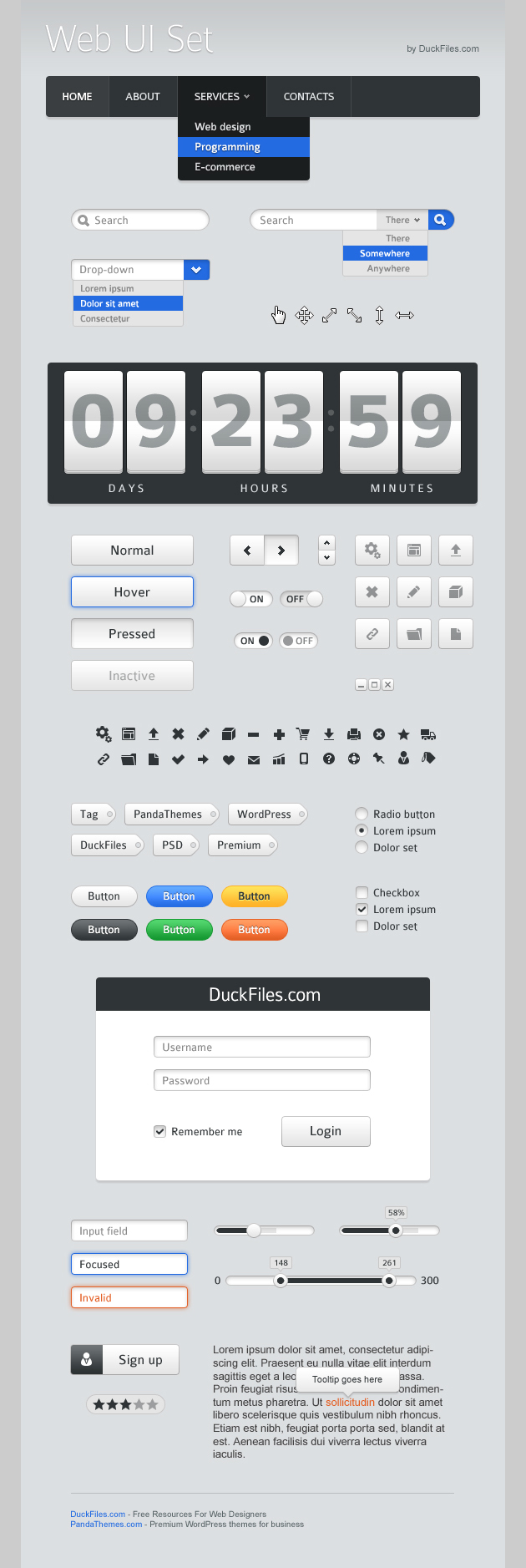 70+ user interface elements (Free PSD) #webdesign #design #designer #inspiration #web #ui #userinterface #interface #user #download #free #downloads