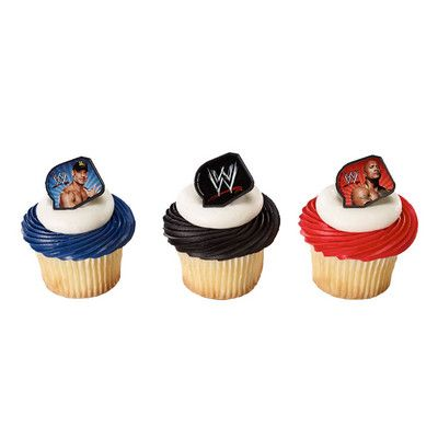 WWE Cupcake Rings featuring John Cena and The Rock Teen Central