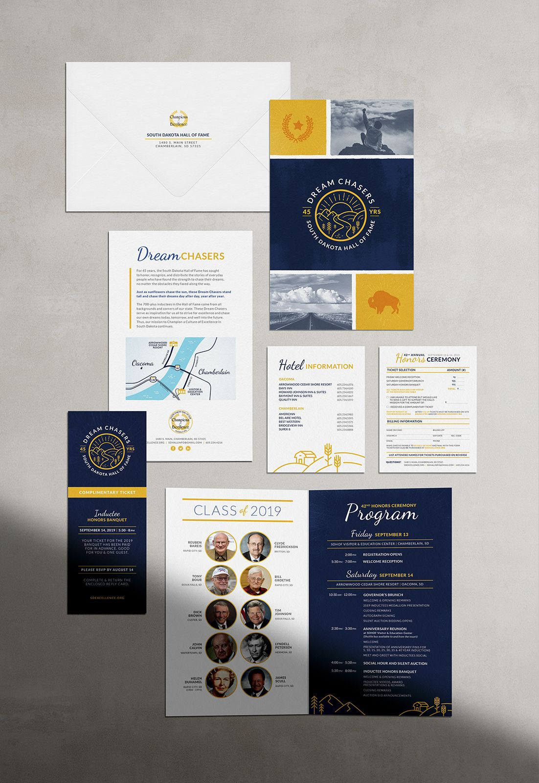 Navy And Gold Invitation Suite By Laurophyll In 2020 Hand Lettering Branding Design Ceremony