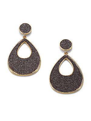 Abs By Allen Schwartz Jewelry Glitter Coated Drop Earrings