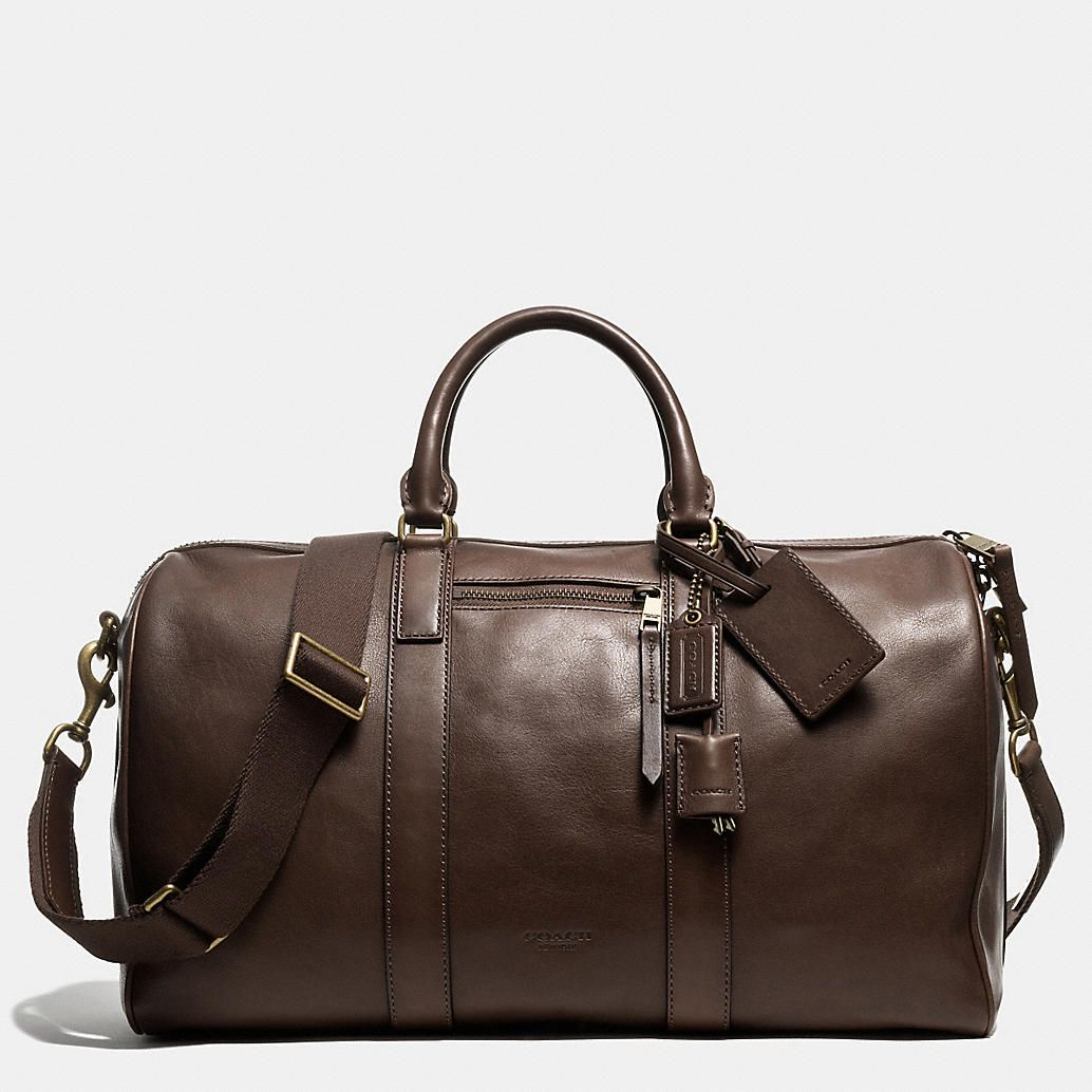 Coach Mens Travel Bleecker Duffle In Leather