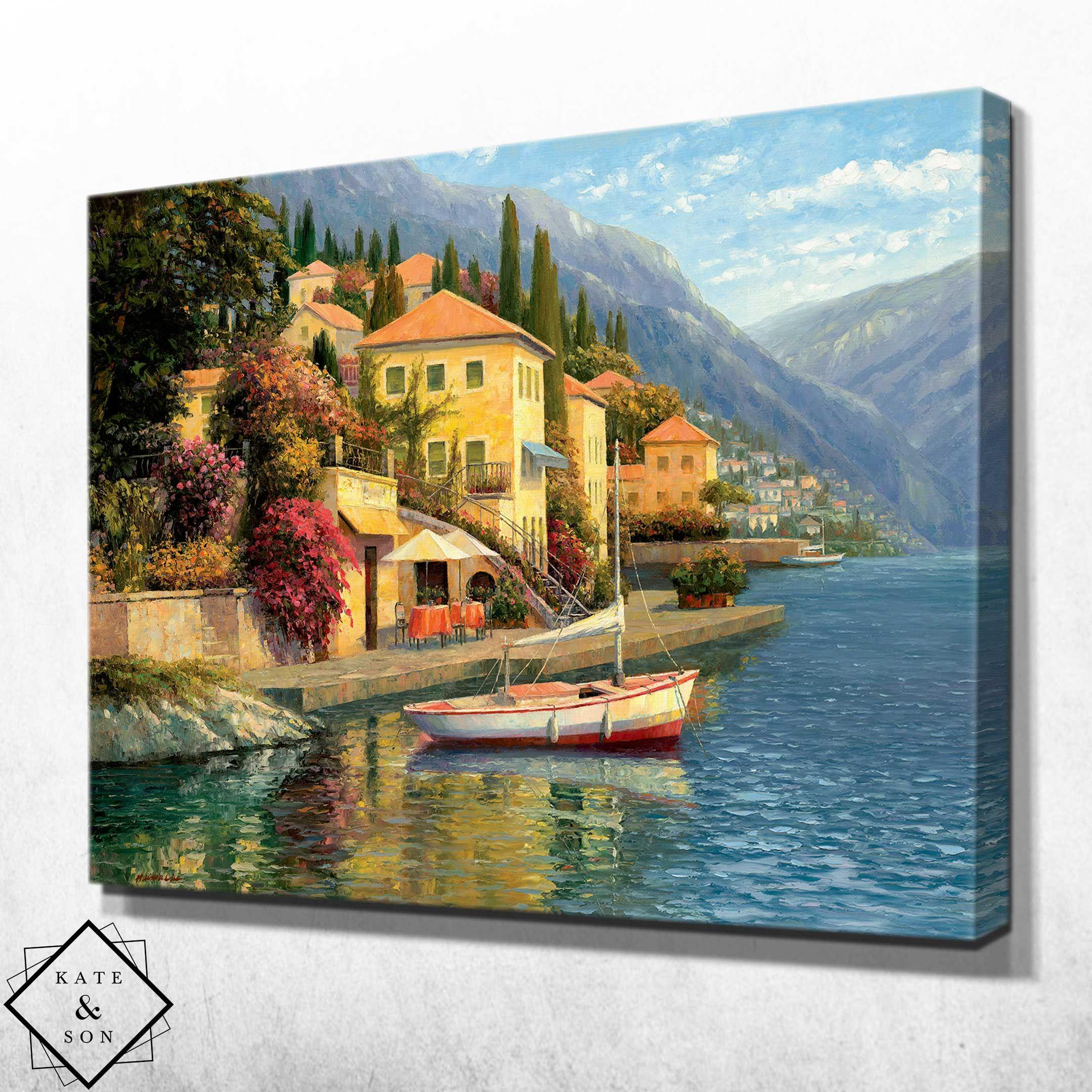 Italian Landscape In 2021 Mediterranean Paintings Oil Painting Landscape Landscape Paintings