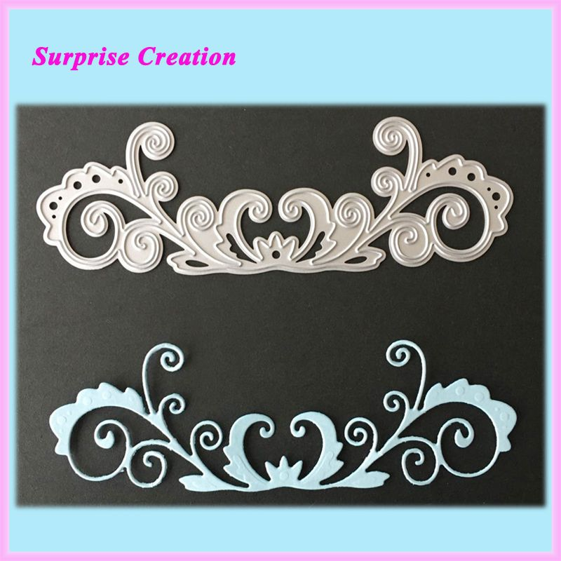 Hid023 Cutting Dies Ornate Flourish Metal Cutting Dies For