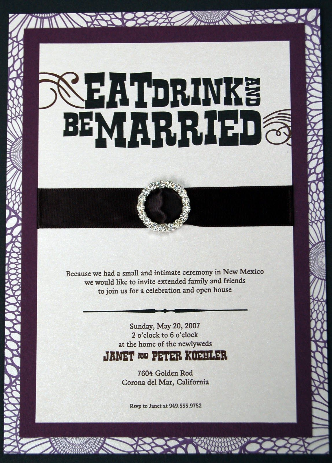 reception invitations | ... Eat, Drink, and Be Married - Post ...