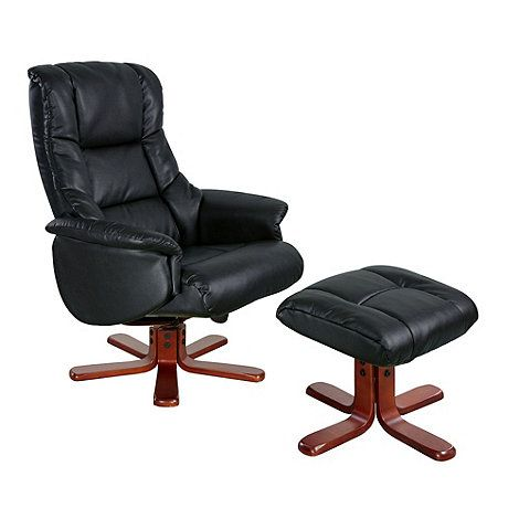 Outstanding Debenhams Bonded Leather Elliot Recliner Chair And Stool Machost Co Dining Chair Design Ideas Machostcouk