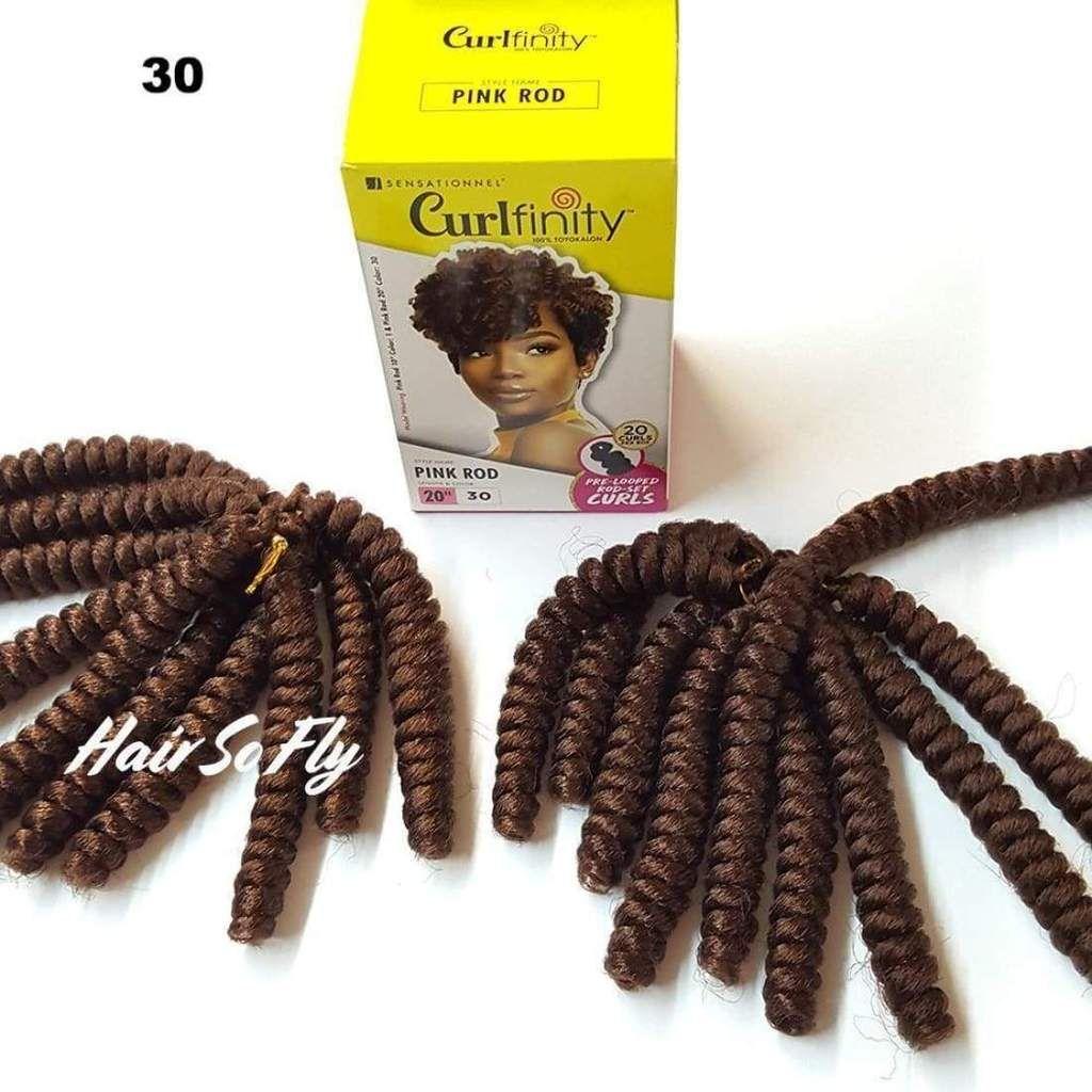 Sensationnel Curlfinity Crochet Braid Pink Rod 20