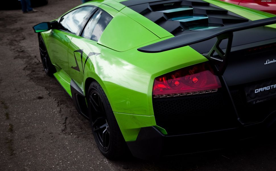 Lamborghini Murcielago Sv Green Hd Wallpaper Wallpapers