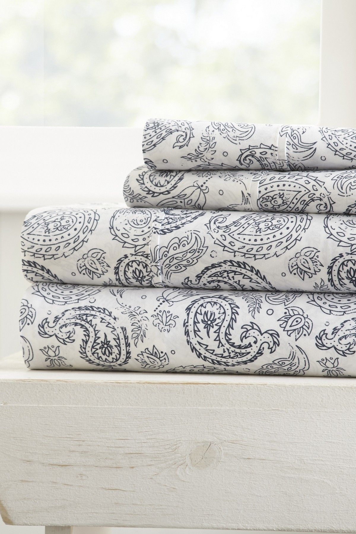ienjoy Home Duvet Cover Set Coarse Paisley Patterned TwinLight Gray