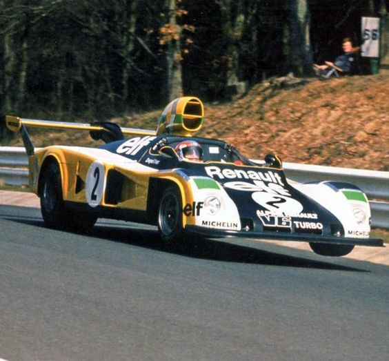 Besides his job as Formula 1 driver for Tyrrell Patrick Depailler took part in several races for the Renault Team in the 1970s. The picture shows him in a Renault Alpine A442 at the 300 Kms Race at the Nürburgring.:
