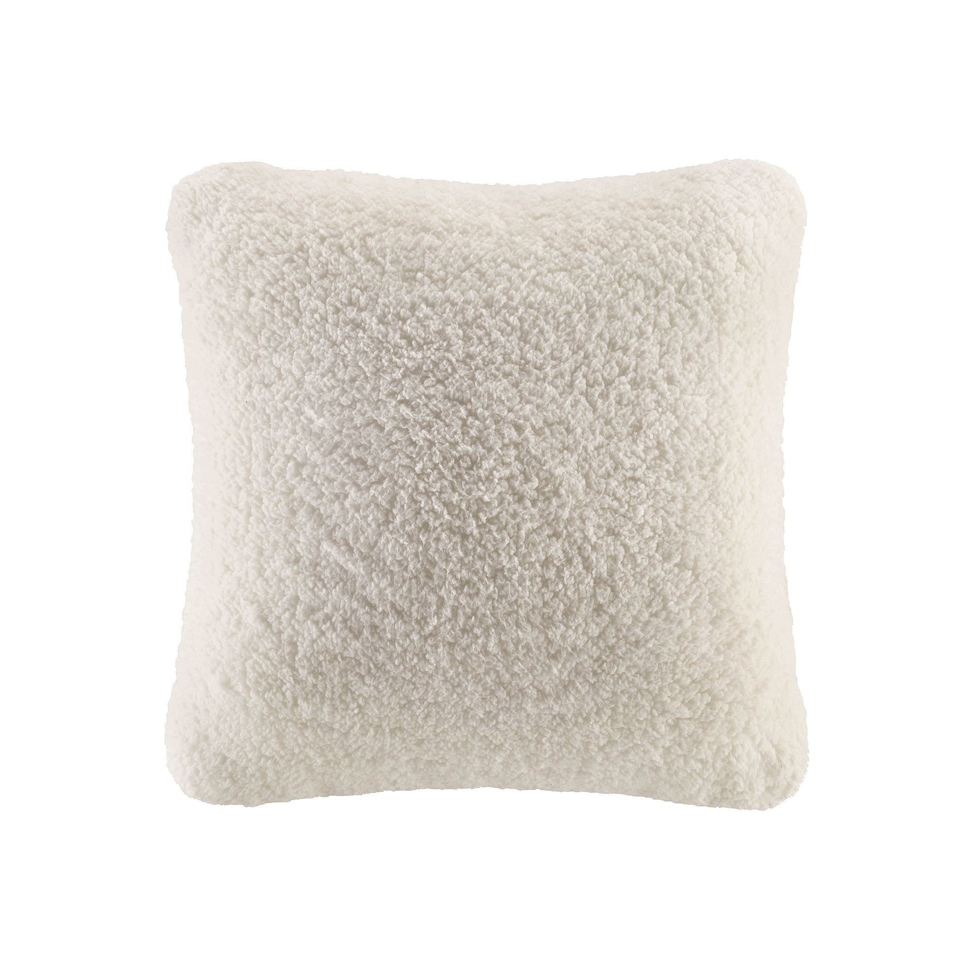 Cuddl Duds Sherpa Fleece Oversized Throw Pillow, White Oth