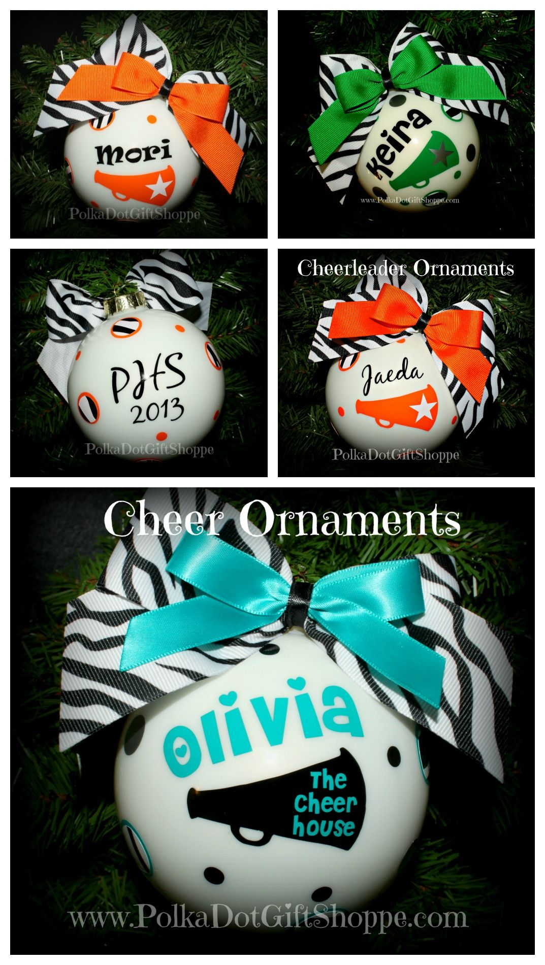 Cheerleader Gifts for Christmas! We have all team colors to create ...