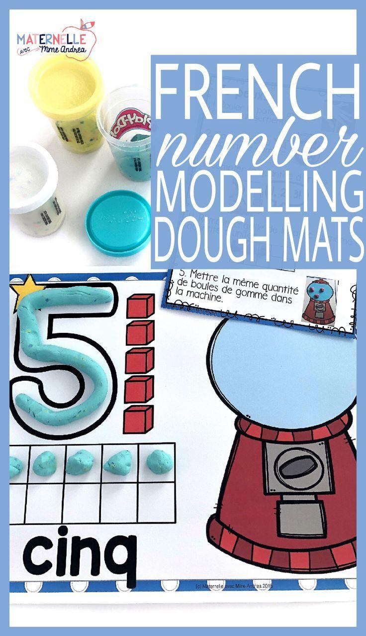 Cartes de pâte à modeler - les nombres 1-20 (FRENCH number modelling dough mats) | Number sense ...