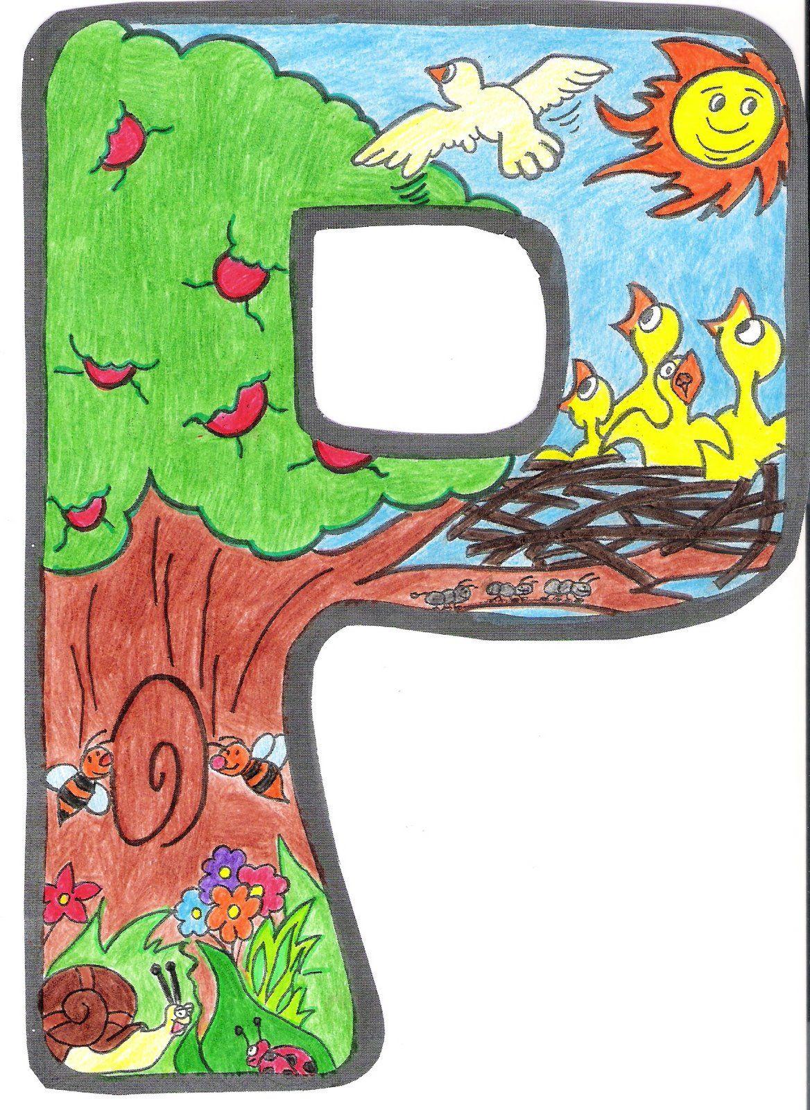 Letras para crear el cartel de primavera primavera - Letras decoradas infantiles ...