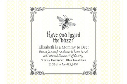 Custom Vintage Bumble Bee Baby Shower Invitation Baby Shower