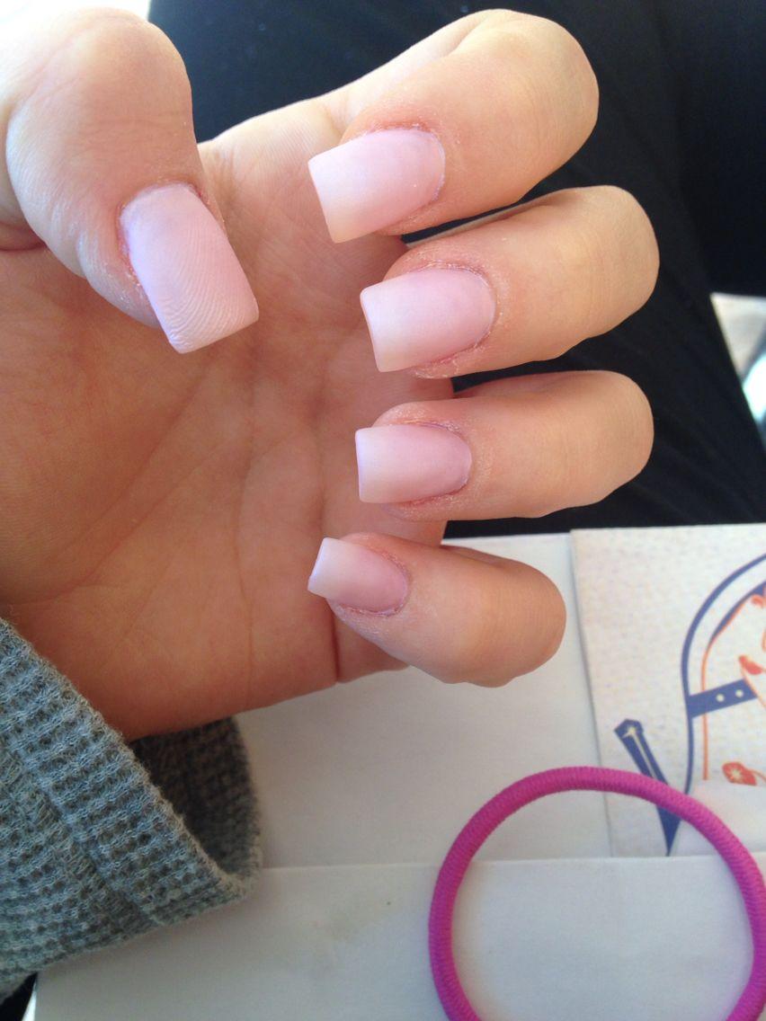 matte pink square acrylic nails | Acrylic nails | Pinterest | Square ...