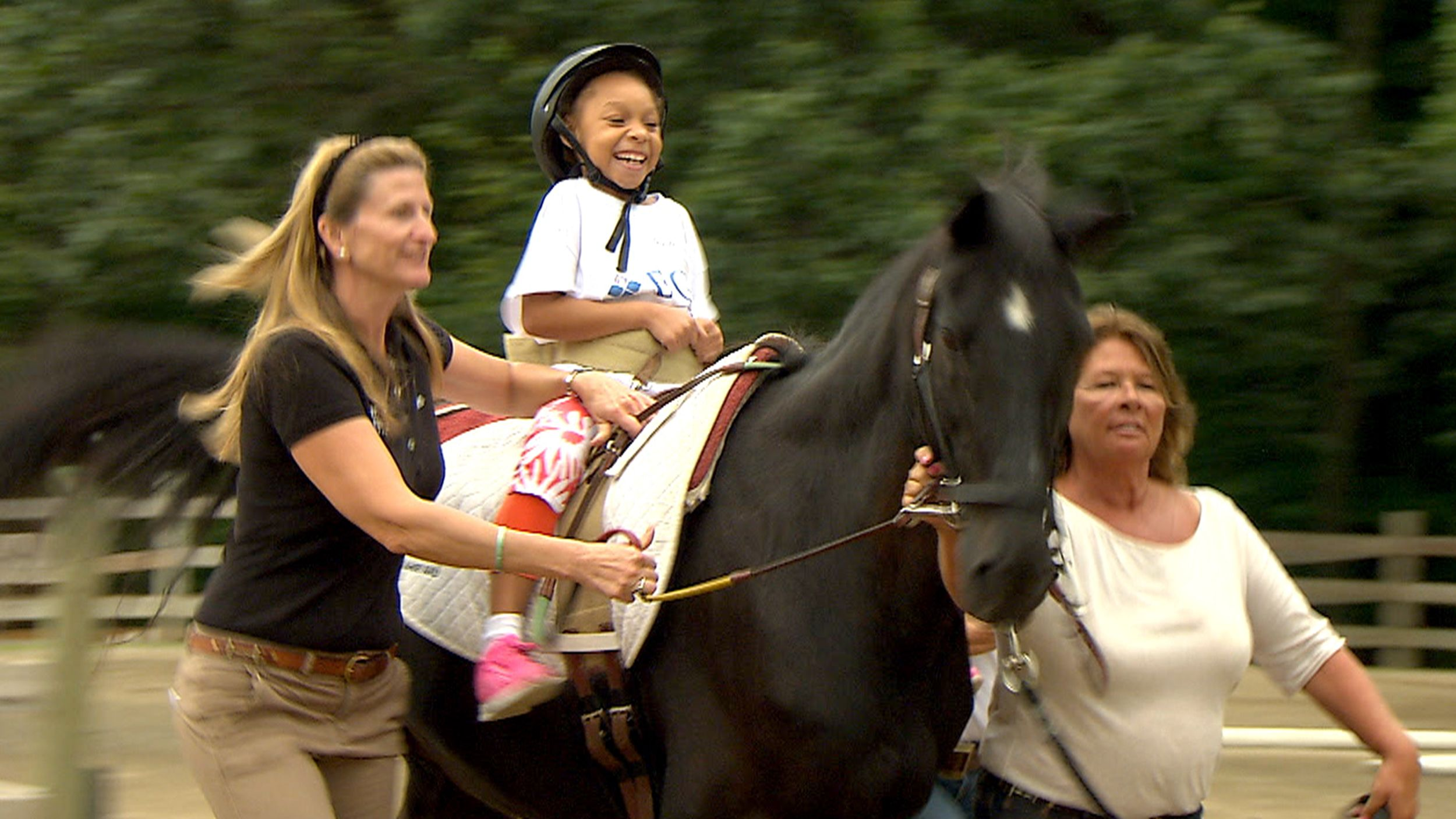 See how horses help kids with special needs find joy