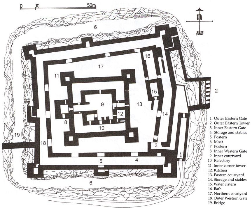 crusader castles floor plan