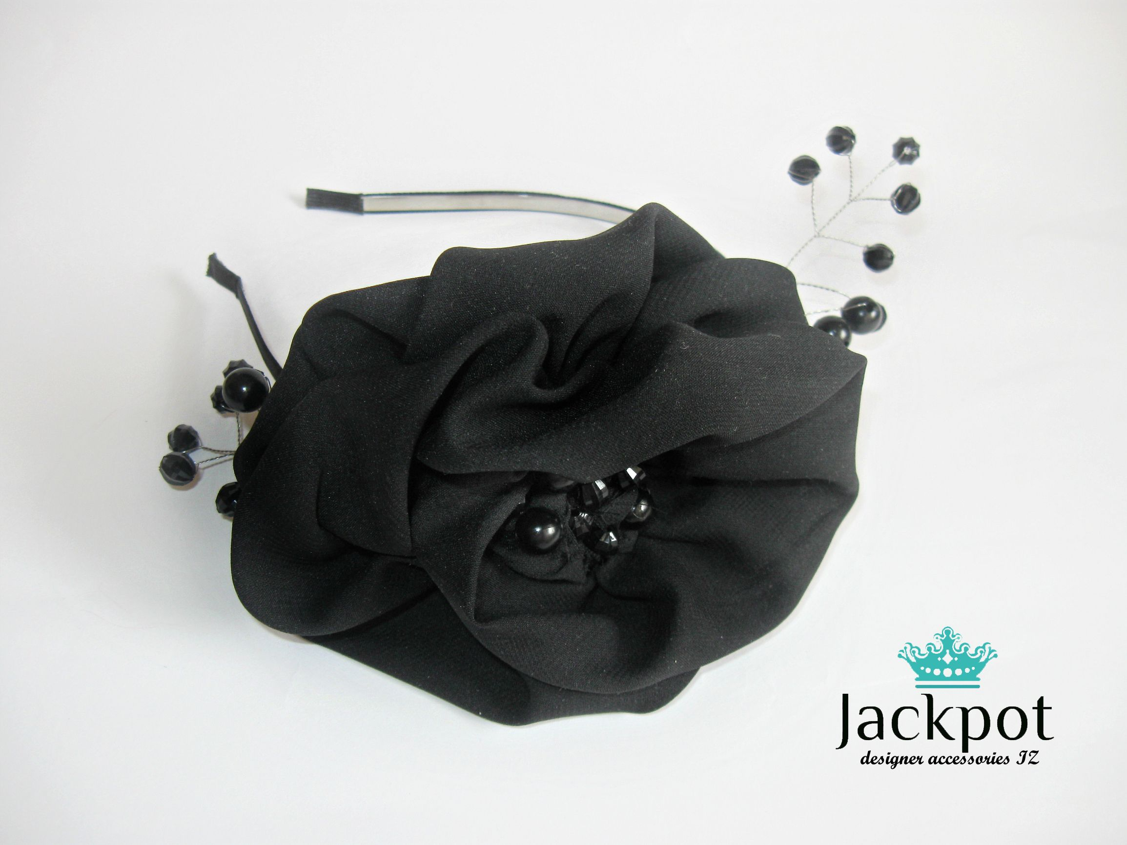 Black Flower Crown Vintage Headband Black Rose Headpiece Black Swan