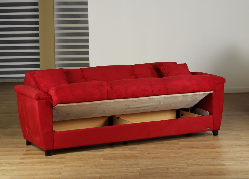 Nice Red Sofa Of Aspen Rainbow Bed For Furniture Yourlery