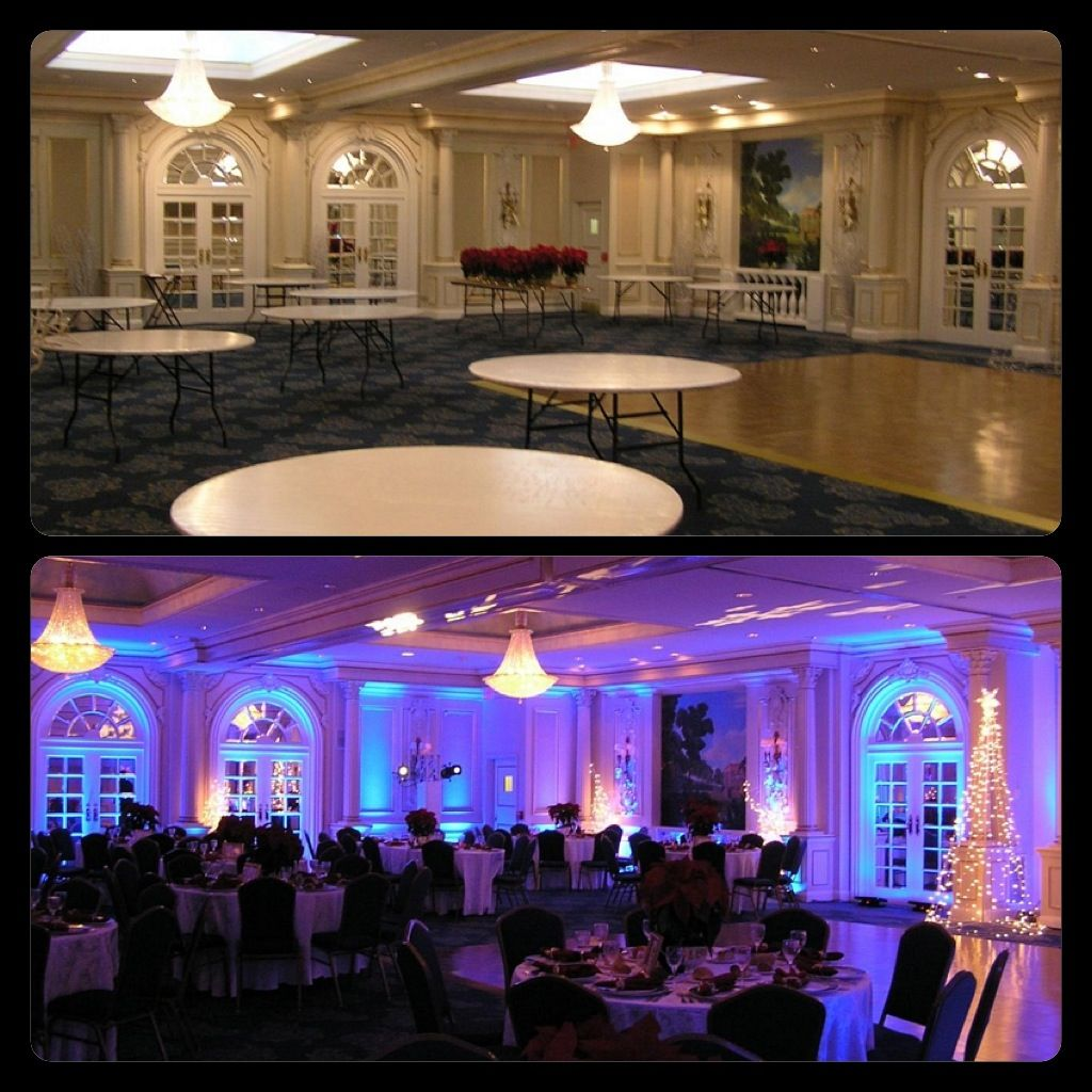 "Diy Led Uplighting Rental Atlanta: Here's A Before & After Example Of The Impact ""Winter"