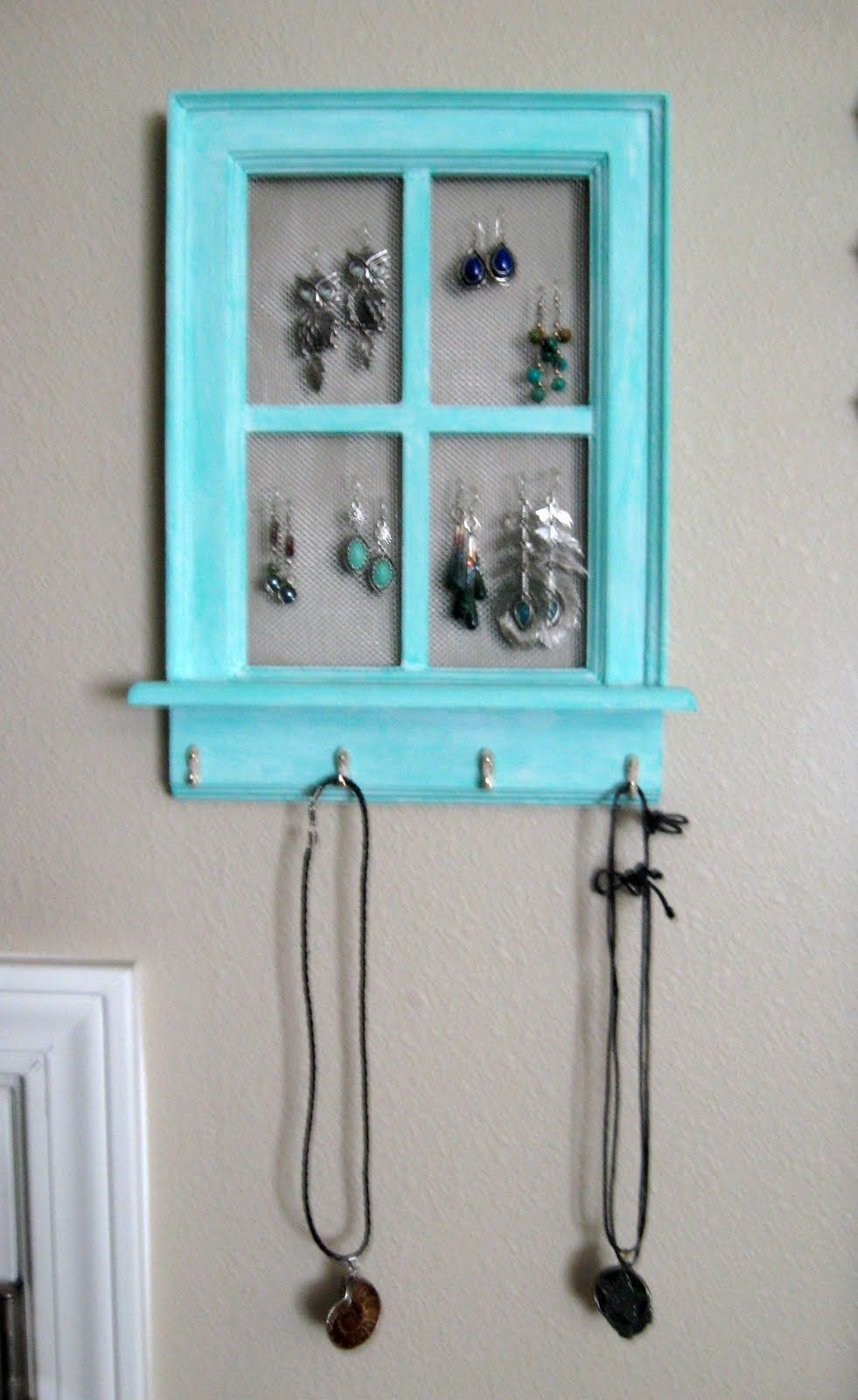 DIY jewelry hanger   Feelin crafty   Pinterest