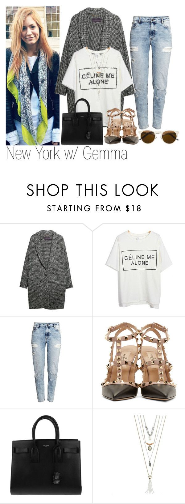 """NY w/ Gemma"" by edna-loves-1d ❤ liked on Polyvore featuring Violeta by Mango, H&M, Valentino, Yves Saint Laurent, Mudd and Illesteva"