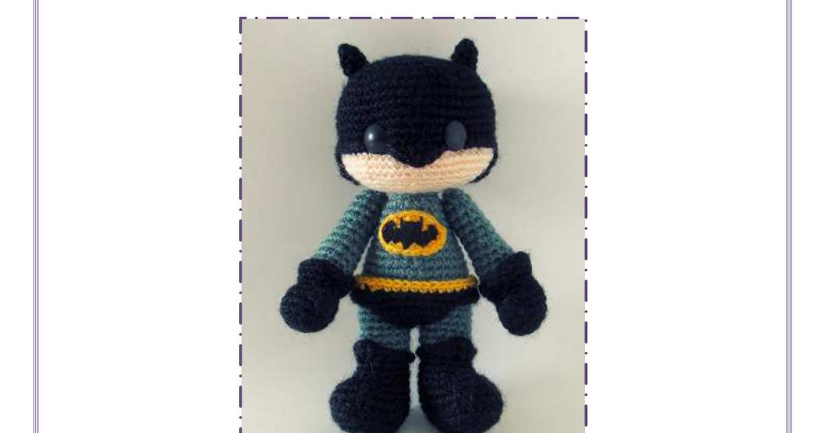 Patrón amigurumi gratuito - Batman - Traducción al español | batman ...